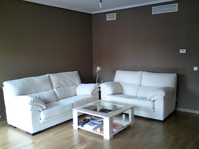 Decoracion mueble sofa pintura de salon - Decoracion de salones pintura ...